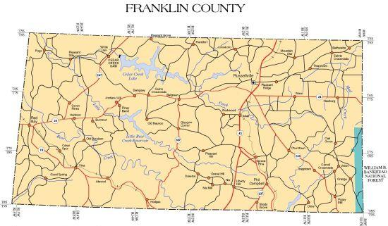 Franklin County Alabama Community Information and Maps on